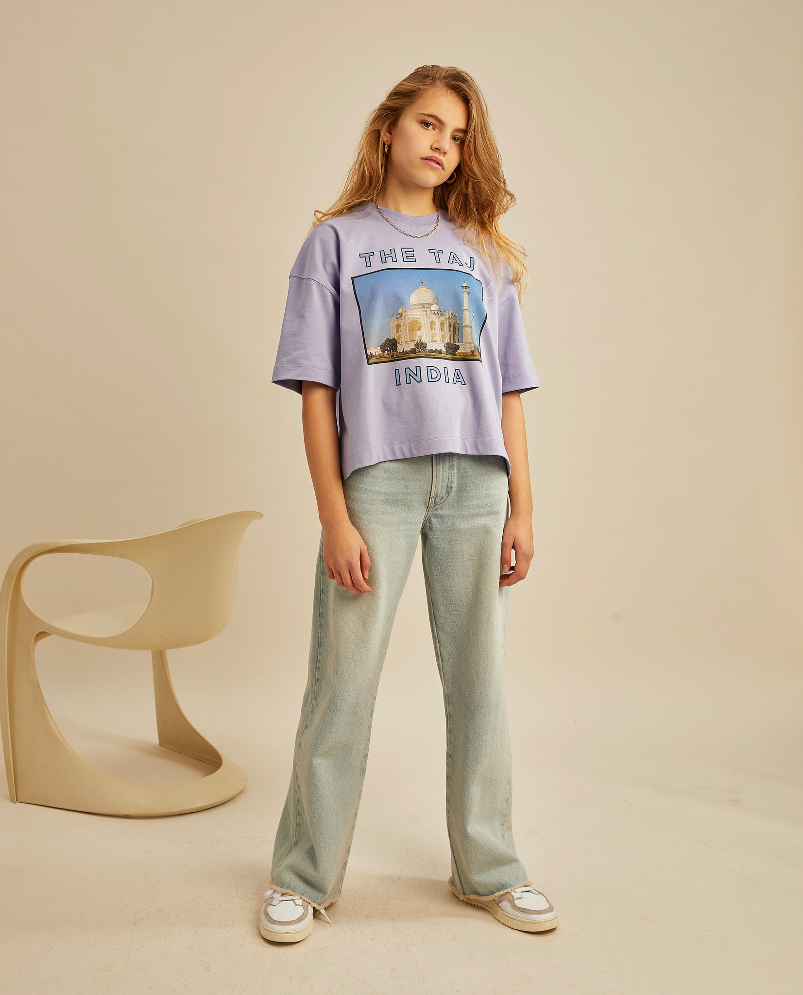 Evelyn oversized T - Bougainville