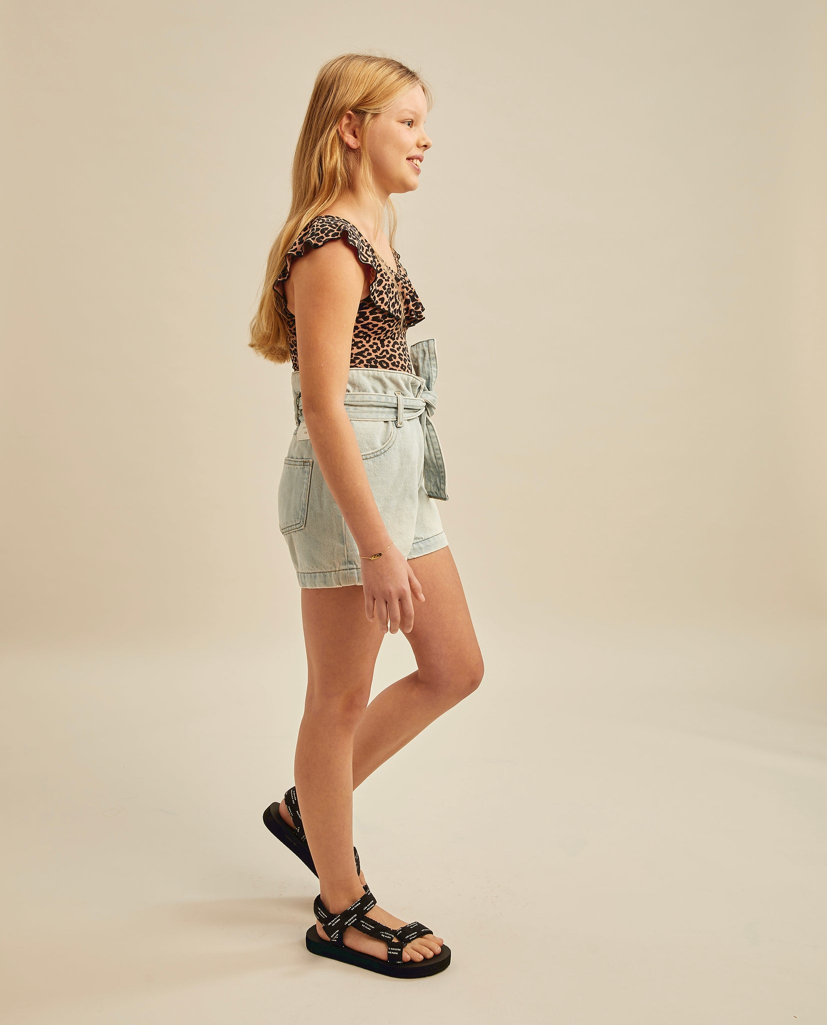 Jonah high waisted shorts - Sun-bleach Denim