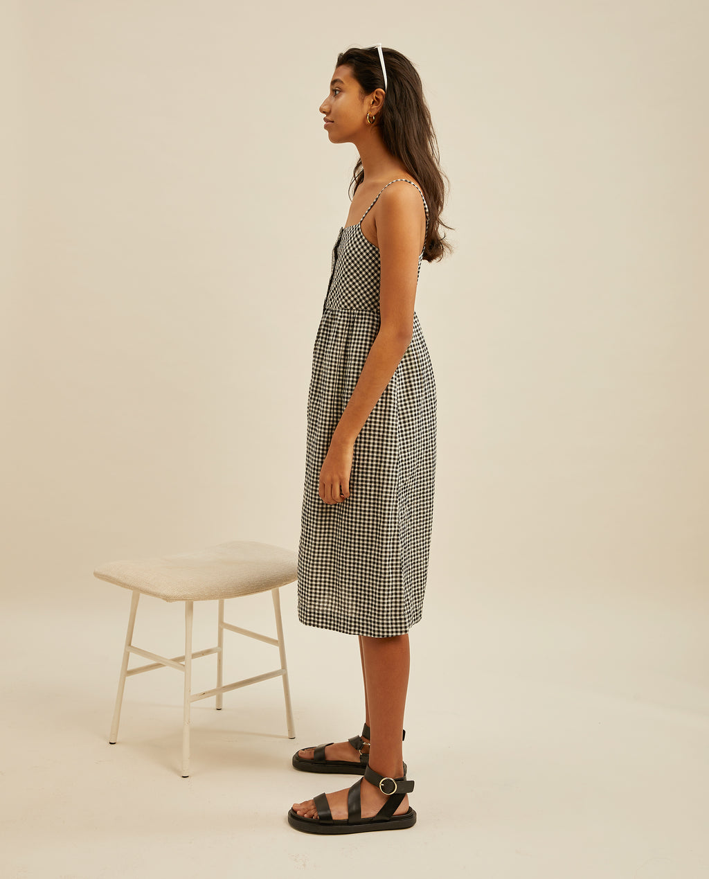 Joselyn midi dress - Mini Gingham Check