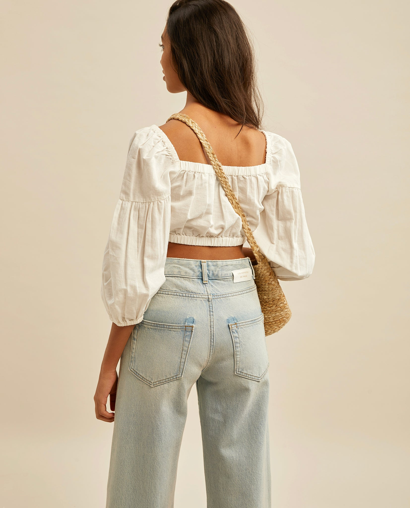 Philene crop top - White