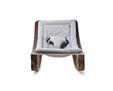 Baby rocker levo walnut- sweet grey - KID - 3
