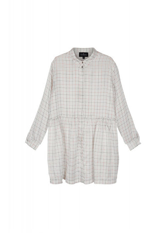 Jael shirtdress - White check