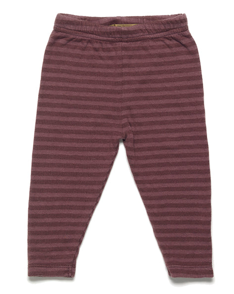 Luuk Striped legging - raisin