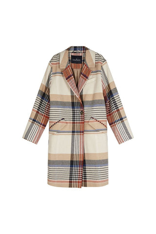 Penelope Coat - Multicolor Check