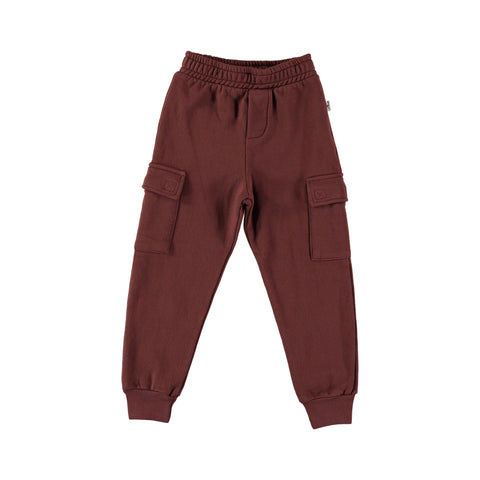 Trousers Kids Plush - Wine