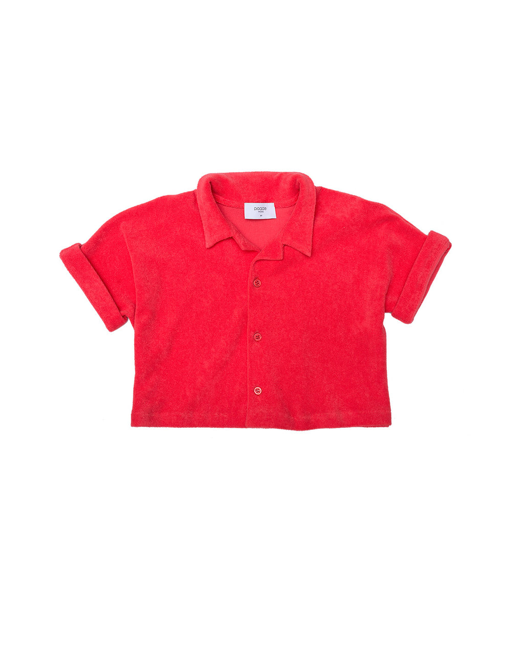 Cotton Jersey Shirt - Dahlia Red