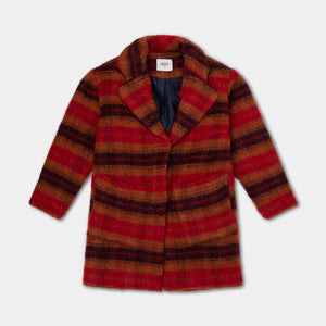 Overcoat - Warm Red Check