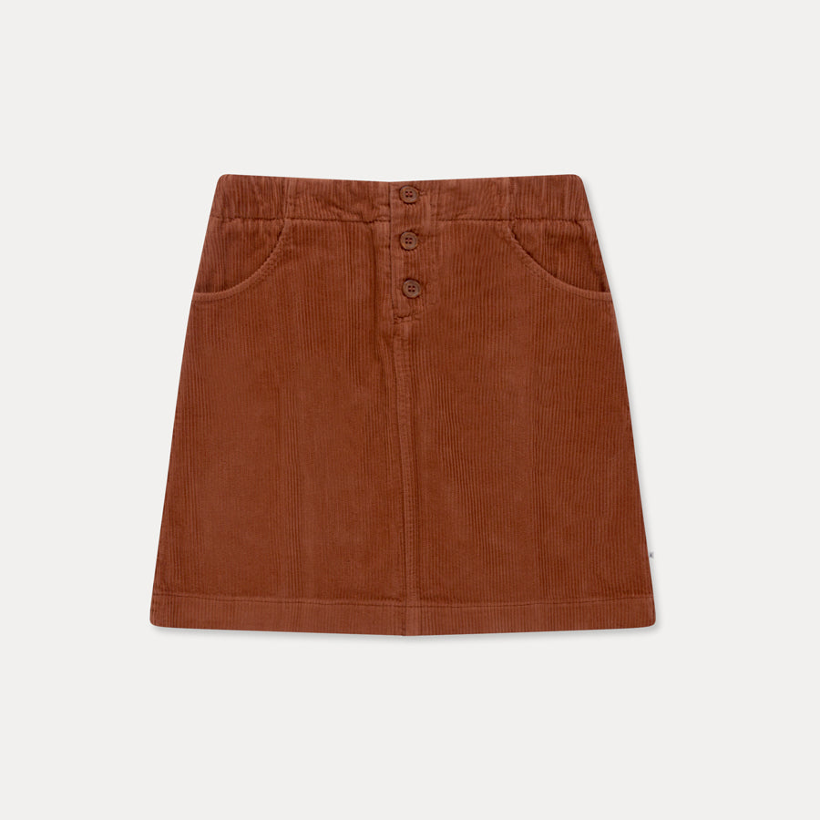 A-line skirt - corduroy strong chestnut
