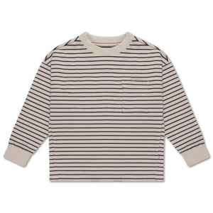 Sweat Tee - Dark Night Grey Stripe