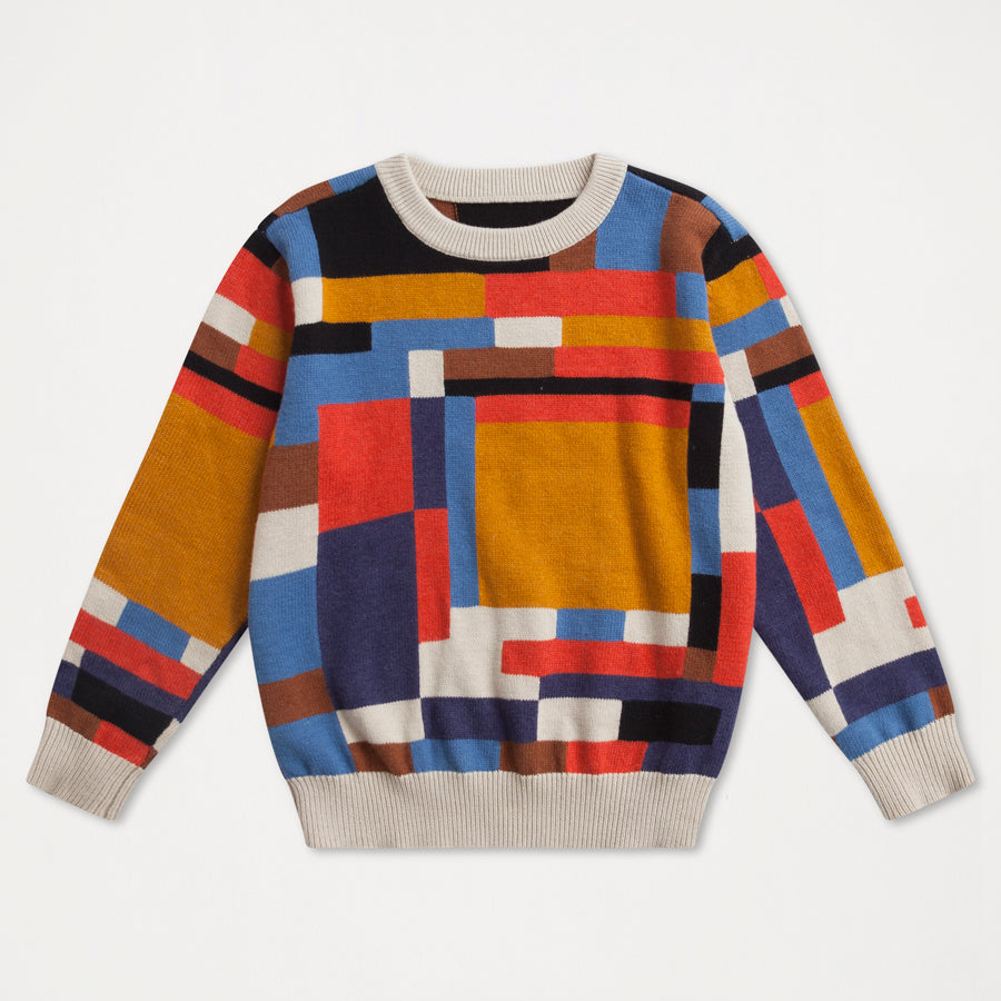 Knit sweater - color block