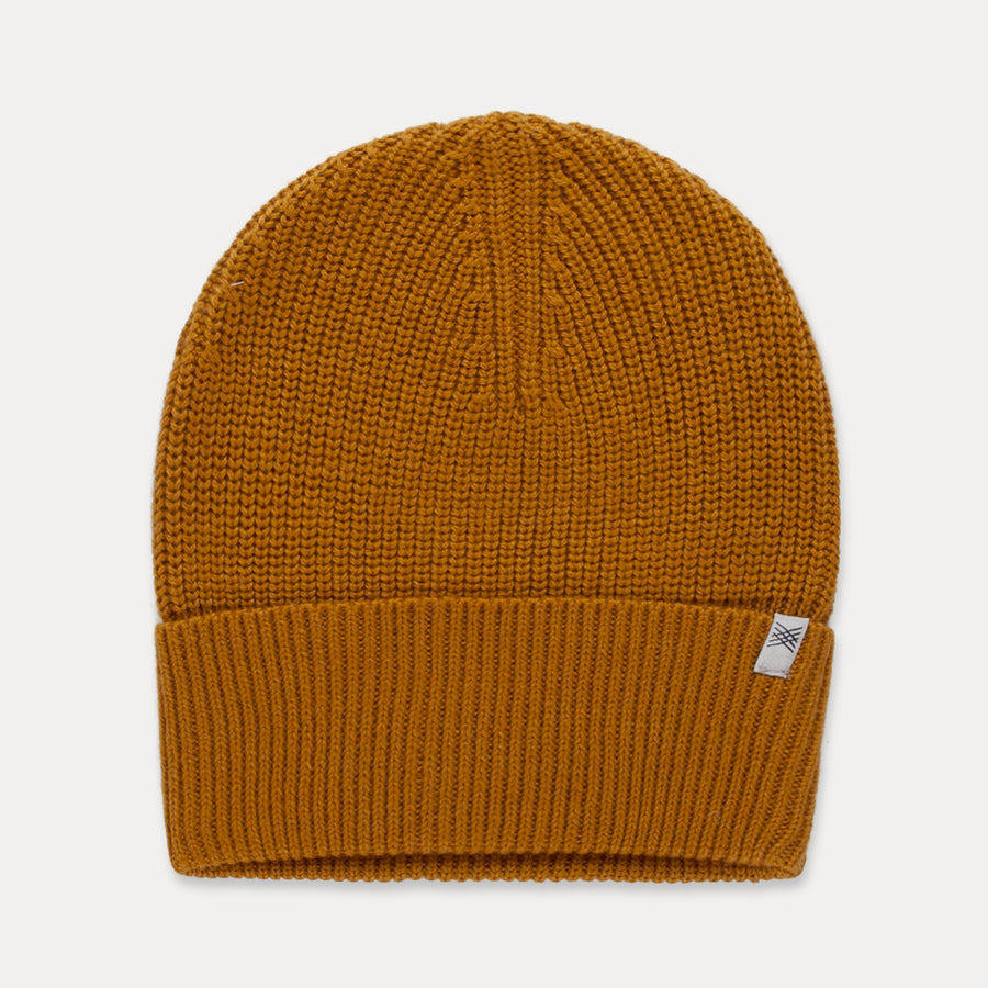 Knitted hat - golden yellow