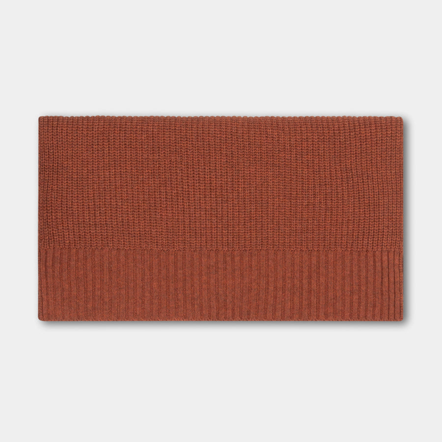 Knitted scarf - Stone Brown
