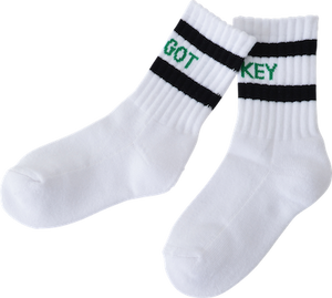 The key socks // white/black/green