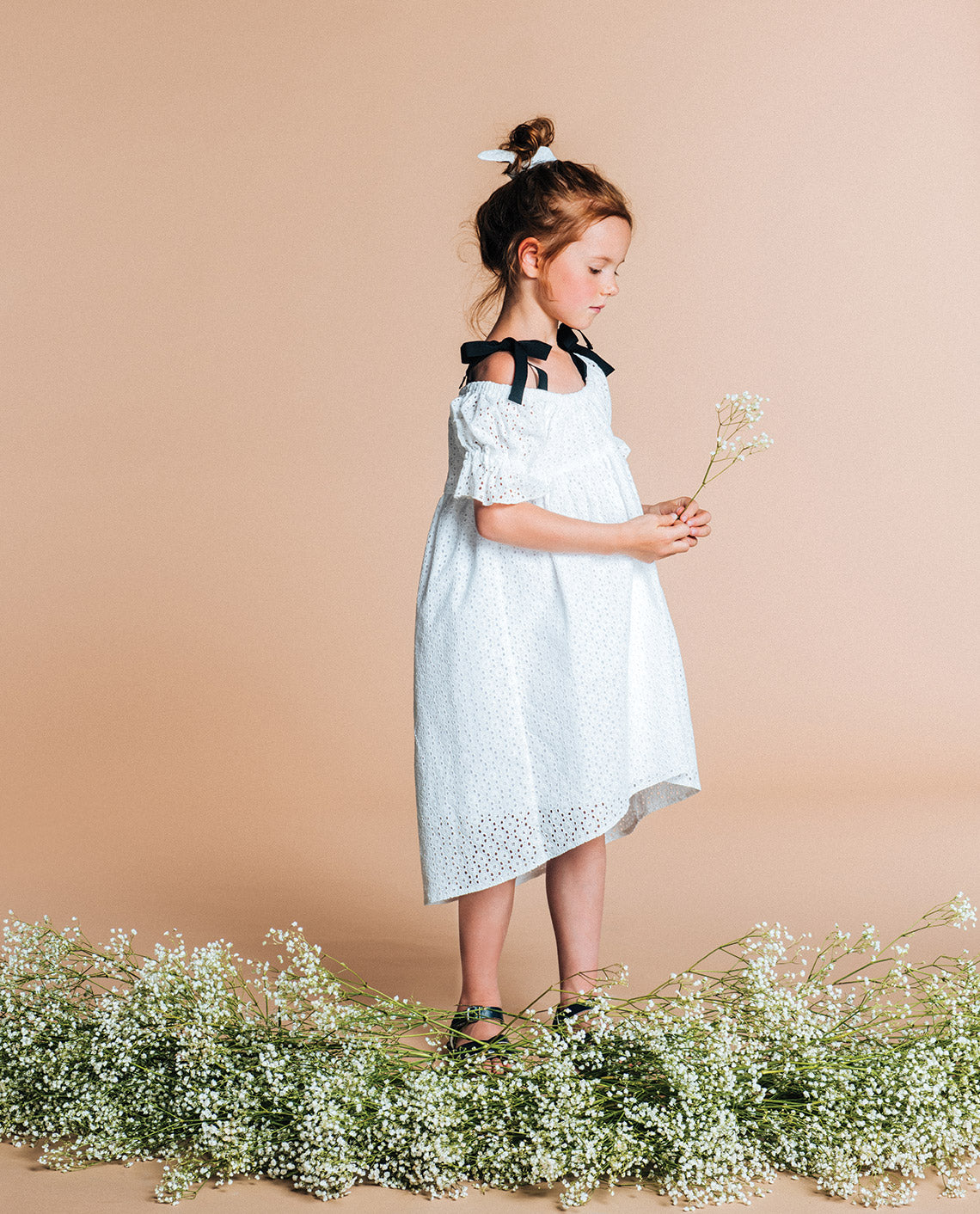Cotton dress Sophia // white