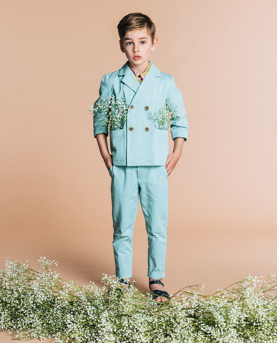 Cotton chinos maxime // teal