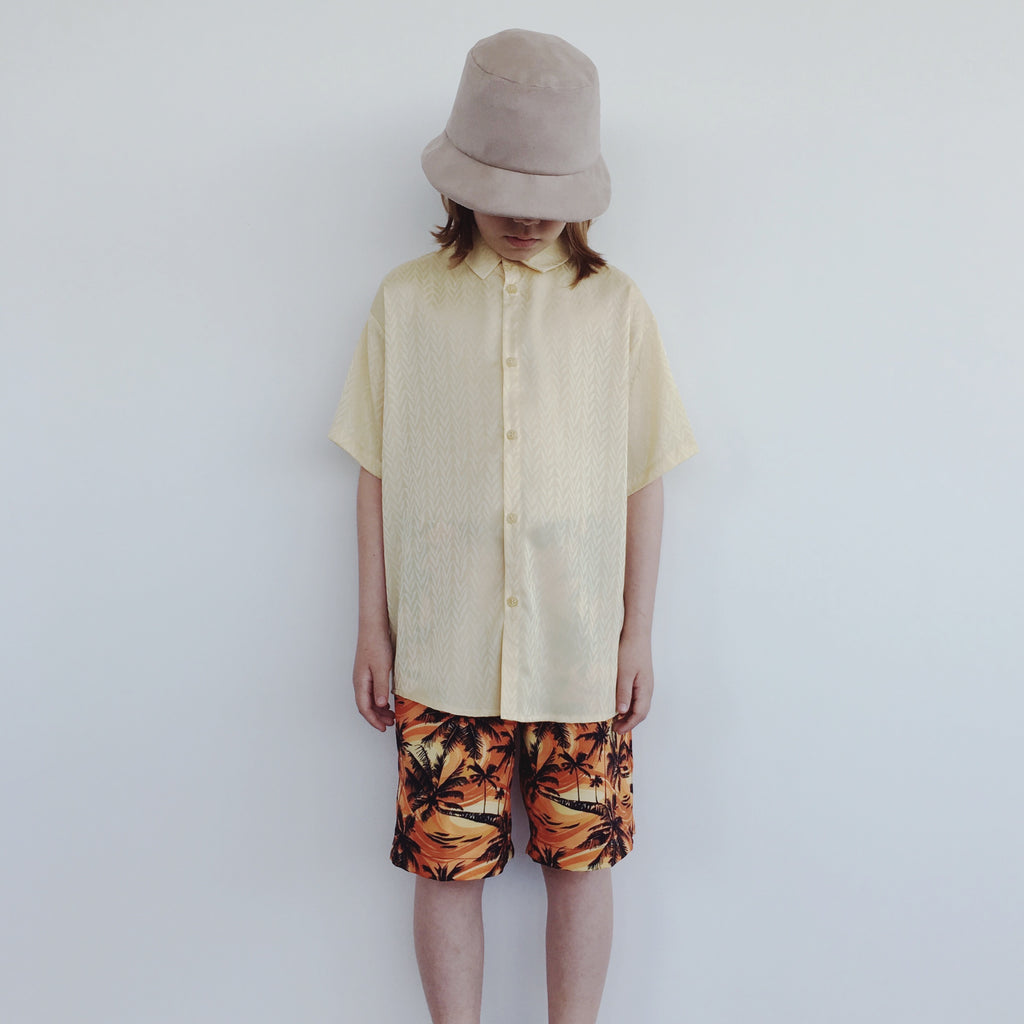 Short Sleeve Shirt - V Yellow