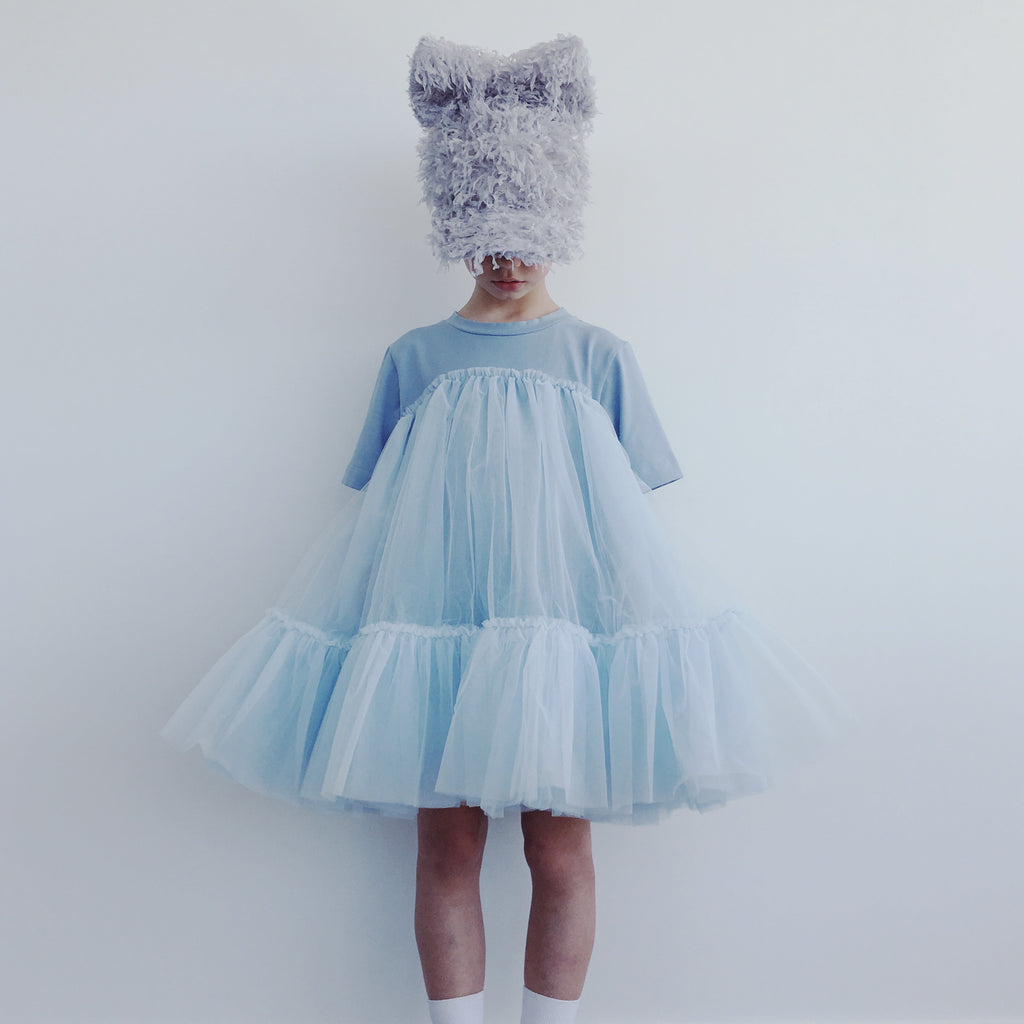 Oversized T-shirt + Tulle Dress - Arctic Blue
