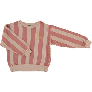 Sweatshirt Multi Stripes - Dusty Coral