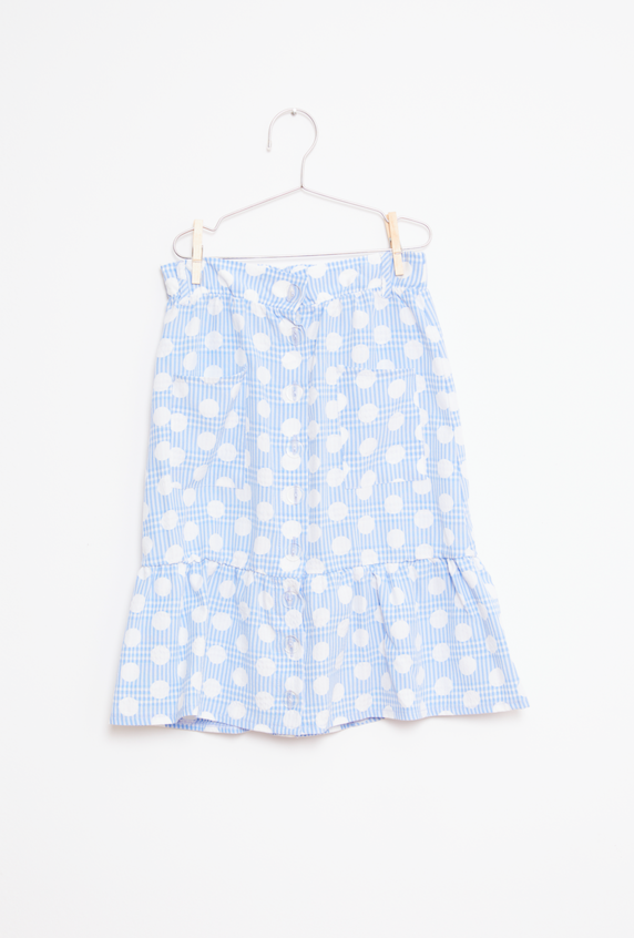 Dots Skirt - Blue