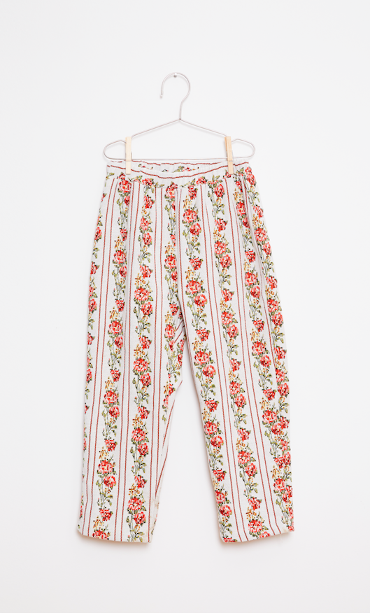 Flower Pants - Red/White