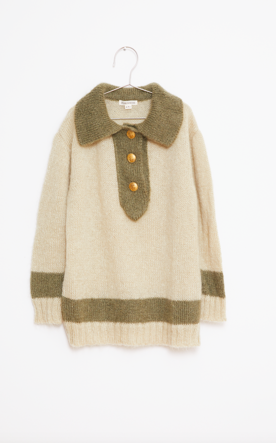 Sailor Knitted Jumper - Green/Beige