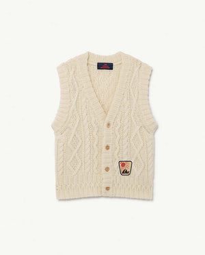 Bat Kids Vest - Raw White