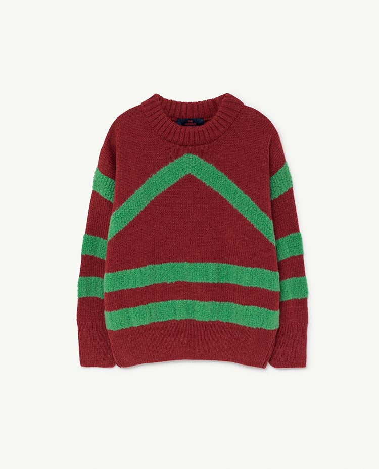 Bull Kids Sweater - Maroon