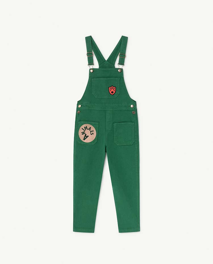 Mule Kids Jumpsuit - Green Animals
