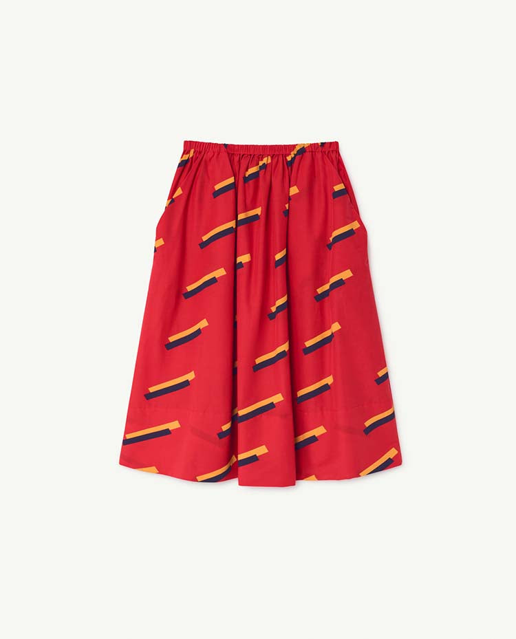 Red Sow Kids Skirt - Red 80'S