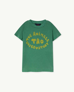 Rooster Kids T-Shirt - Green The Animals