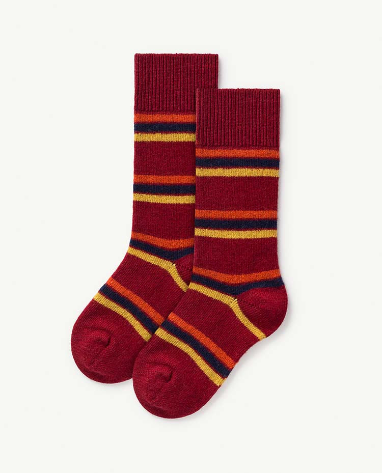 Snail Kids Socks - Deep Red