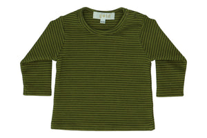 T-shirt Toine Stripes - Avocado