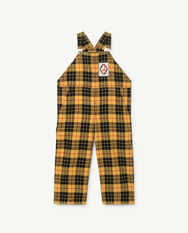 Tartan mechanic kids jumpsuit
