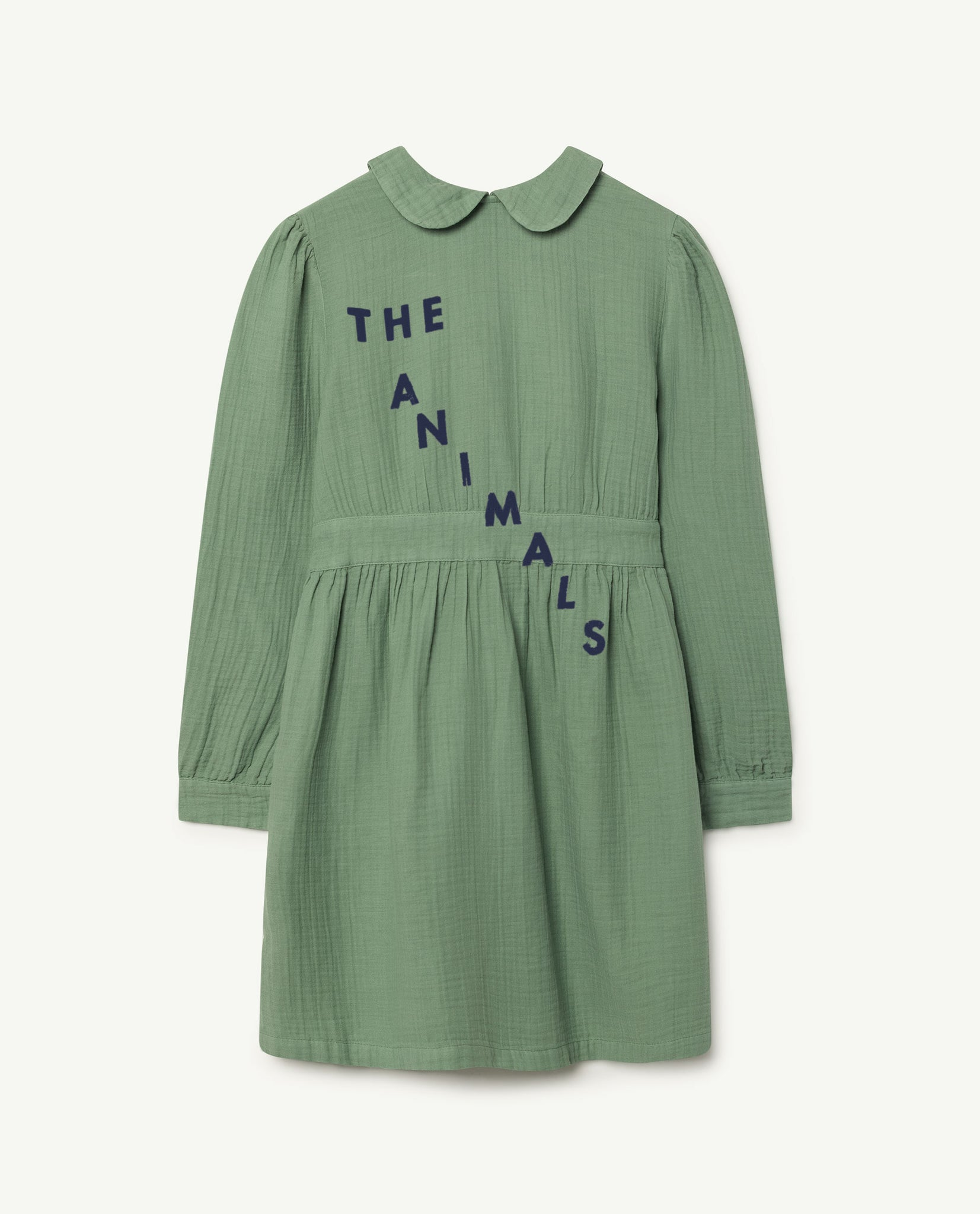 Canary kids dress - green white