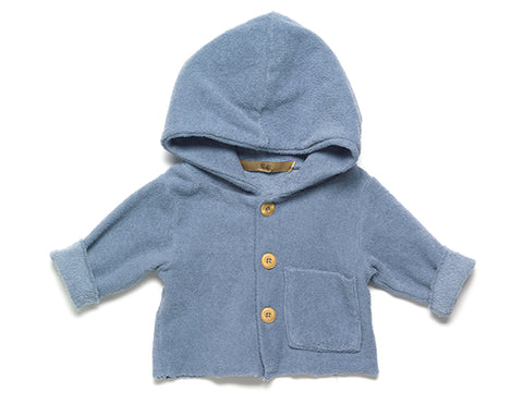 Vos Terry sweater with hood - misty