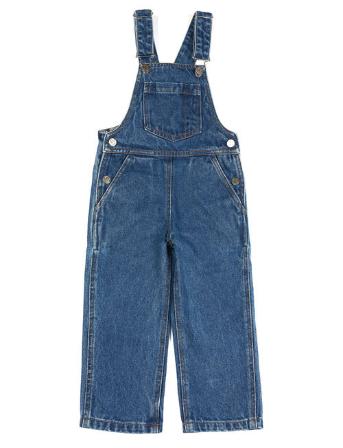 Ally Dungarees - Washed Blue Denim