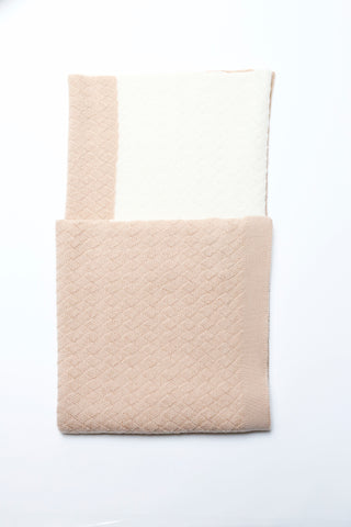 Anna blanket - apricot/ivory
