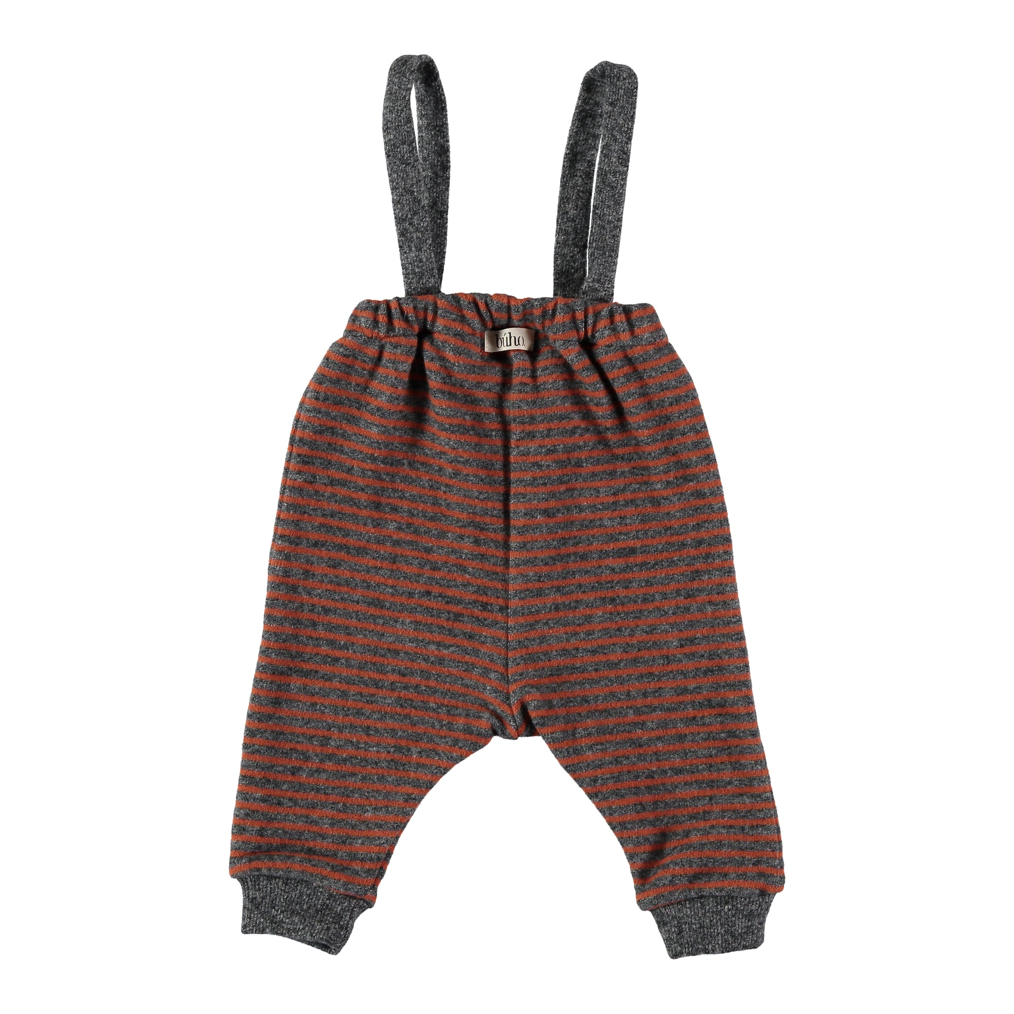 Didi Striped Pants With Suspenders - Grey