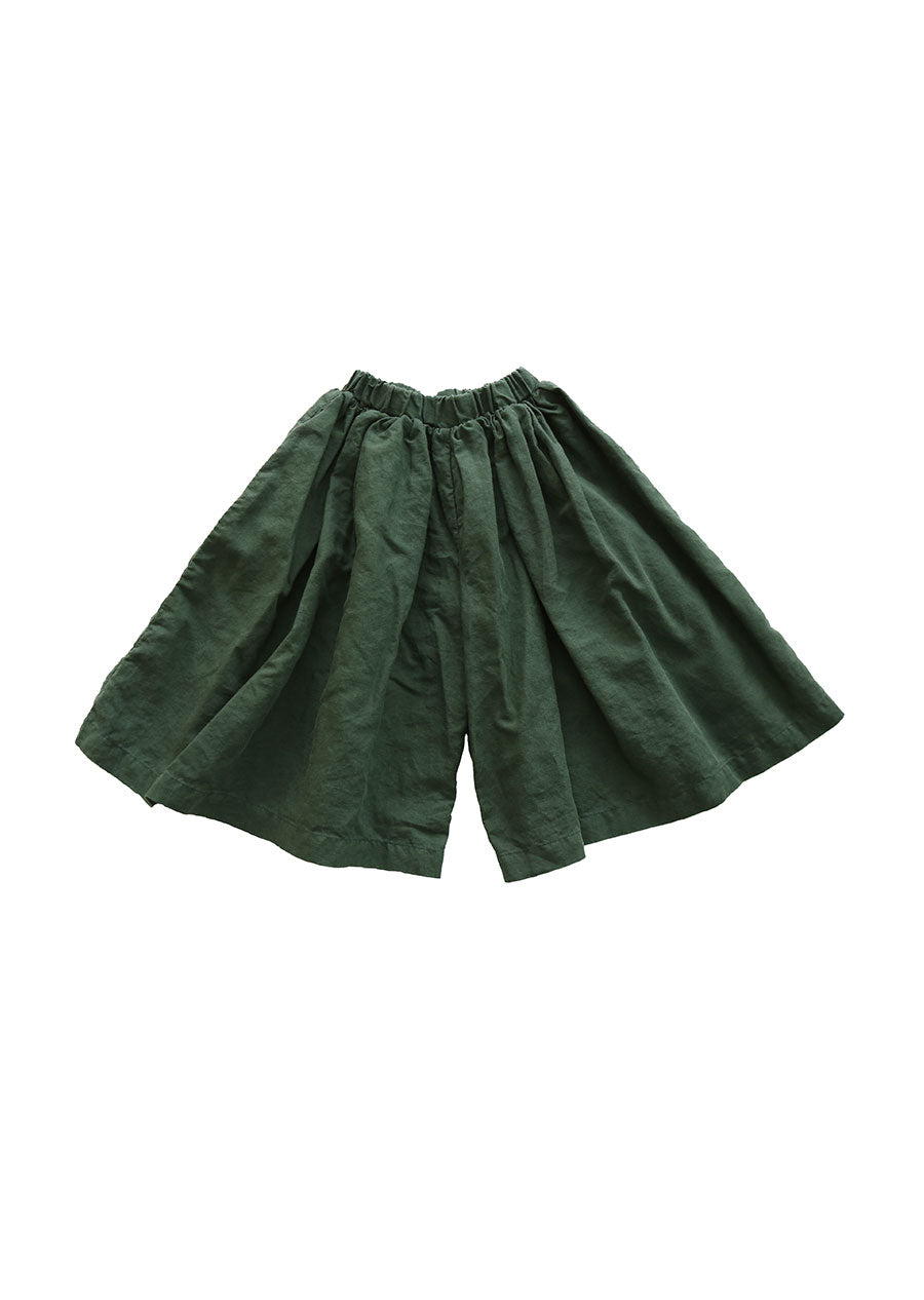 Wide trousers // dark green