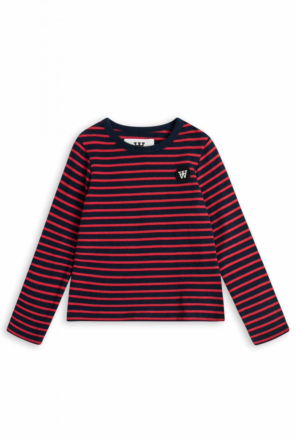 Kim kids long sleeve - navy / red stripes