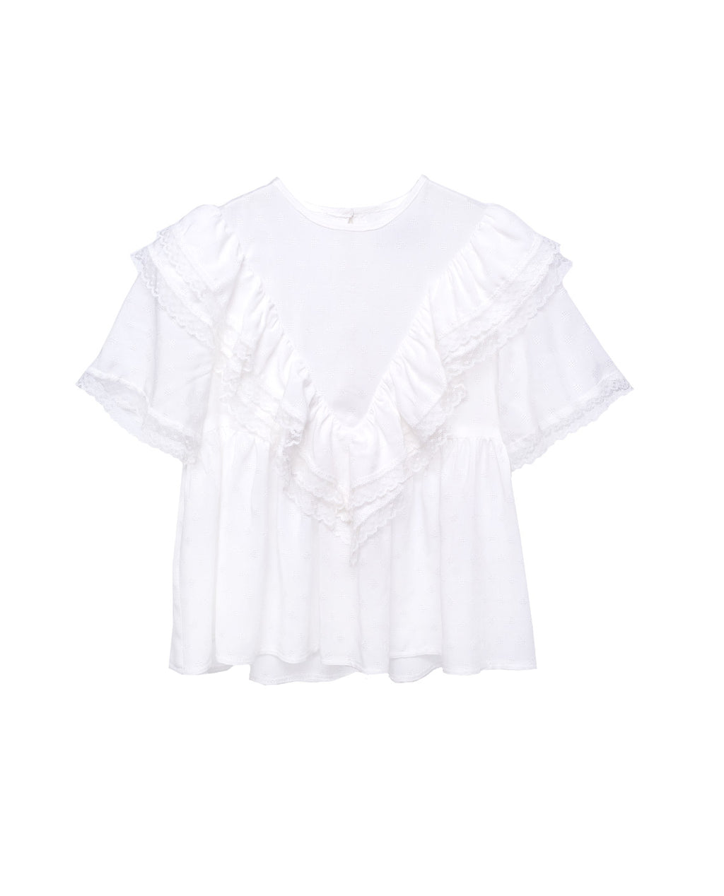 Viscose Blouse - Phlox White