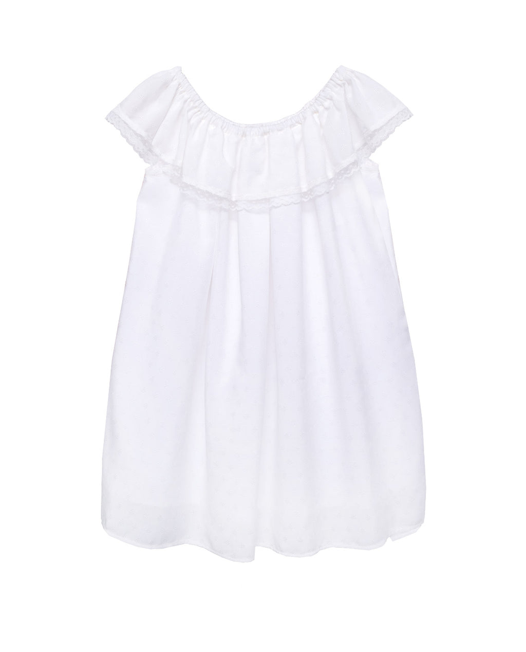 Viscose Dress - Phlox White