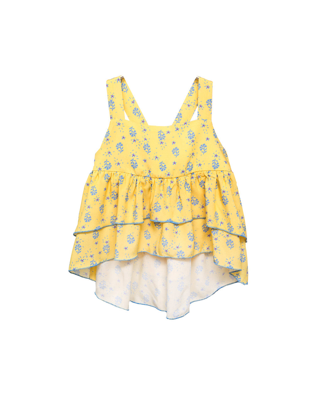 Viscose Top Viola - Yellow