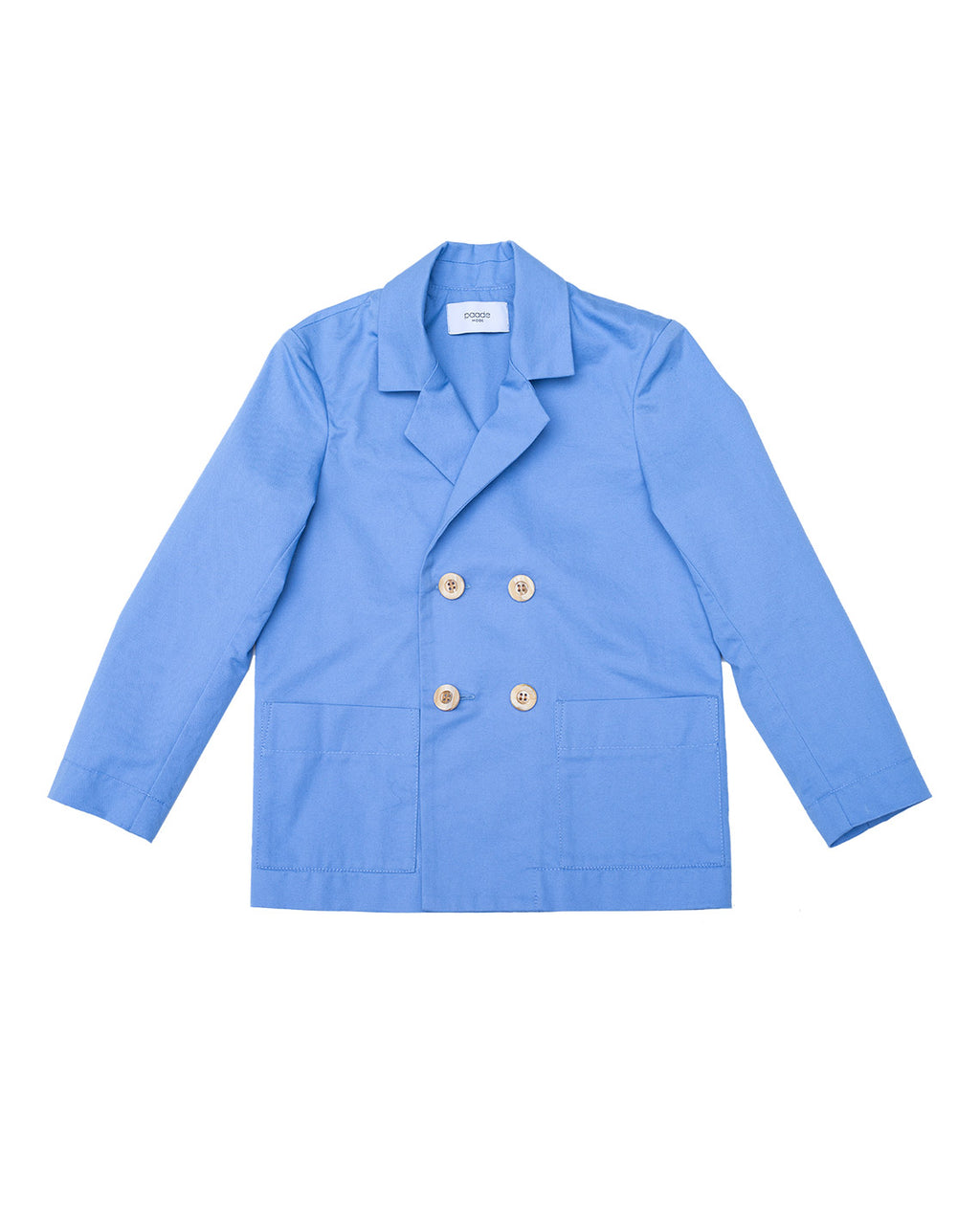 Cotton Blazer Flax - Blue