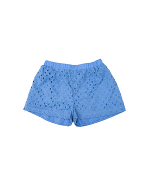 Embroidered Shorts - Lupina Blue