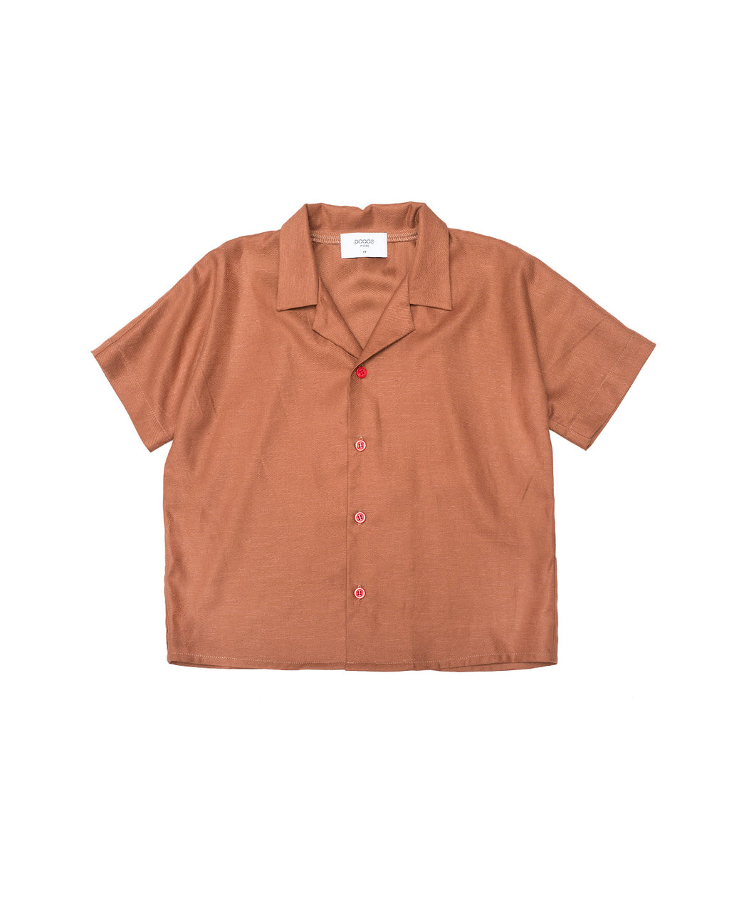 Linen Shirt - Zinnia Brown