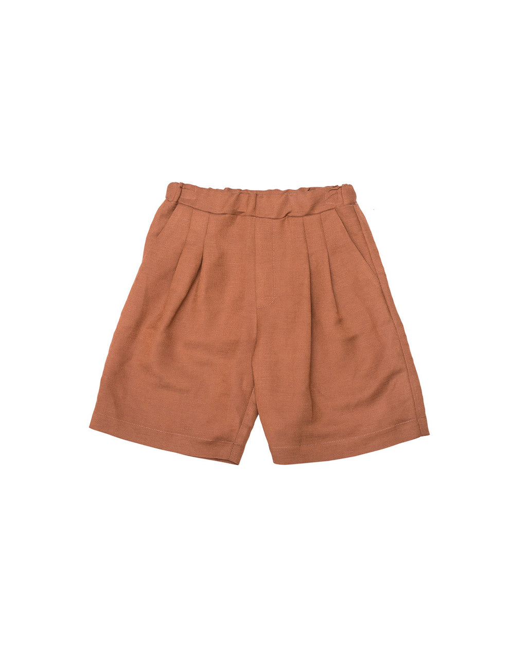 Linen Shorts - Zinnia Brown