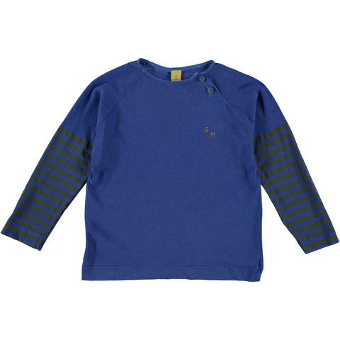 Long sleeve t-shirt // fresh blue