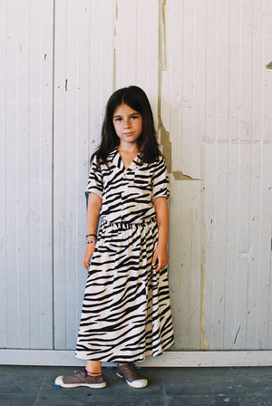 Smiling zebra long skirt