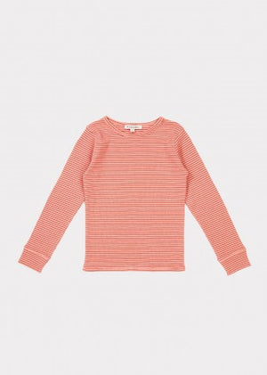 Notes Baby T-shirt - Rose Stripe